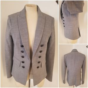 Veronica Beard Classic Structured Blazer Gray 8/10